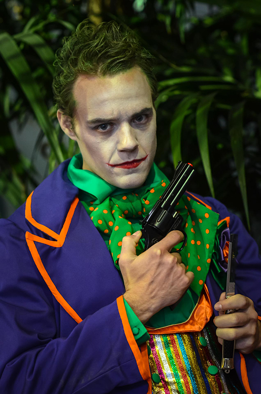 cosplay le joker dc comics photo photographes batman animation photographique prestation costumée il était une fois made in france