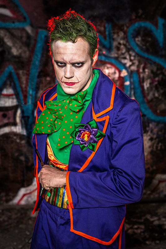 cosplay joker made in france gotham city dc comics