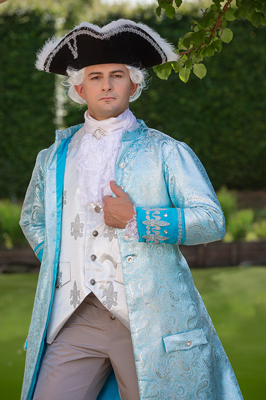 prince style louis xv costume historique haute couture il etait une fois made in france location costume prestation costumee shooting photo