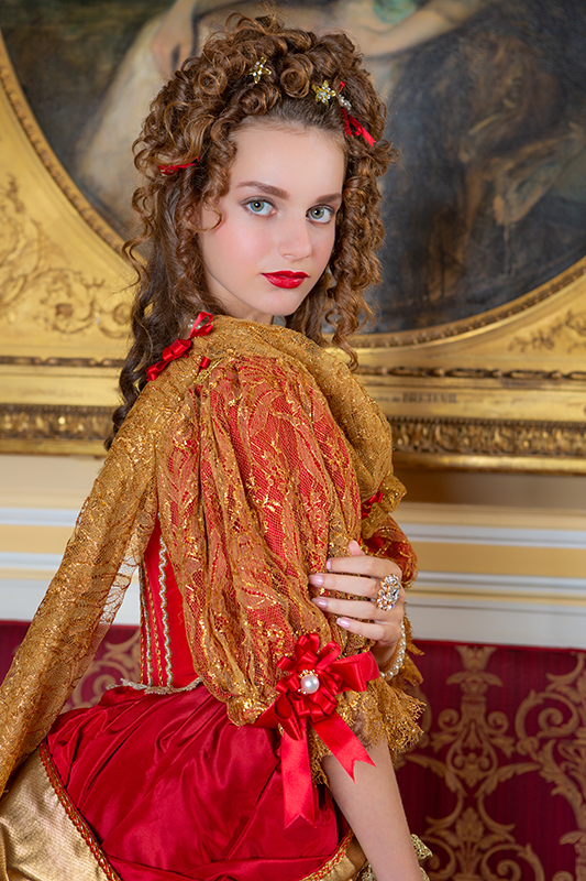 photo portrait shooting costume mme de montespan versailles xviieme siècle location événement événementiel théâtre il était une fois made in france