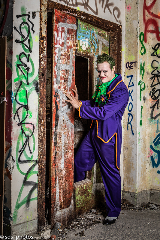 le joker cosplay made in france dc comics batman puddin