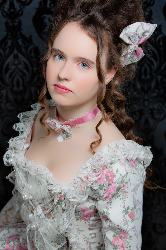 madame elisabeth portrait robe pastel fleurs xviiieme siecle baroque rococo photo shooting il etait une fois made in france
