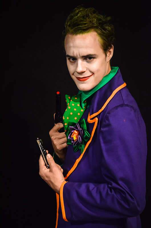 le joker cosplay il était une fois made in france dc comics gotham batman animation photographique prestation costumée photo portrait