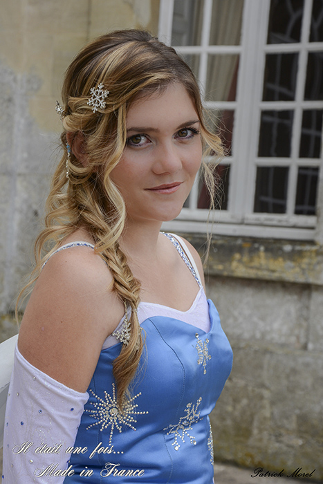 reine des neiges portrait shooting photo chateau il etait une fois made in france