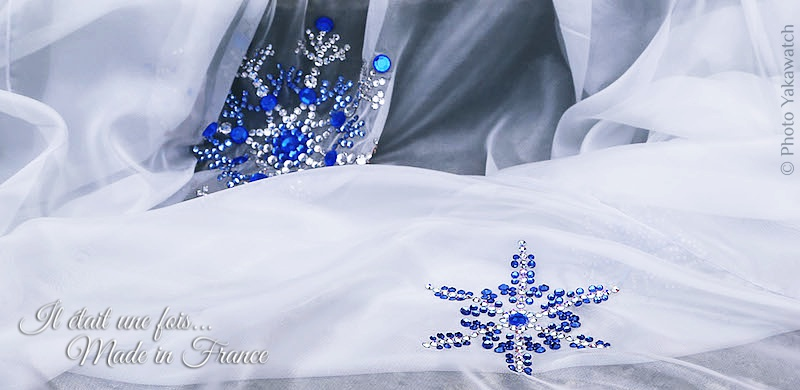 Costume de la Reine des Neiges, mousseline et strass